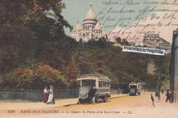 PARIS - Montmartre - Le Square St-Pierre Et Le Sacré-Coeur - Animée - CPA -1913 - Sacré Coeur