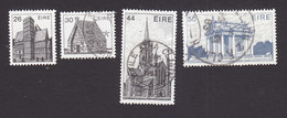 Ireland, Scott #550, 552-554, Used, Buildings, Issued 1982 - 1949-... Republic Of Ireland