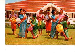 ASIE---THAILAND--thai Drum-dance Performed Jointly By Men And Women In Thailand---voir 2 Scans - Thailand