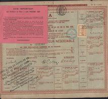 Dossier Avec Action Obligation Compagnie Universelle Du Canal Interocéanique De Panama Timbre Jaune Contrôle 1889 - Azioni & Titoli