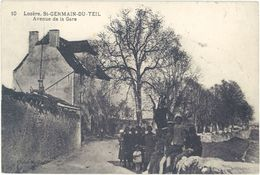 Cpa 48 – Saint-Germain Du Teil – Avenue De La Gare - France
