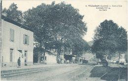 Cpa 48 – Villefort – Cure D'air – La Gare - Villefort