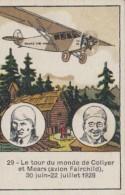 Chromos - Chocolat Stanislas Nancy - Aviation Tour Du Monde Aviateurs Collyer Et Mears 1928 - Unclassified