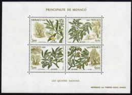 Année 1988 - Feuillet N° 43 - T-P N° 1651 à 1654 - Les Quatre Saisons De L'olivier : Printemps, été, Automne, Hiver - Blocks & Sheetlets