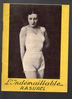 (lingerie) Joli Petit Catalogue Illustré INDEMAILLABLE RASUREL (PPP6772) - Advertising