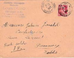 Enveloppe Commerciale 1948 / Louis DUBO / Drap Rouenneries / 65 Eget Saint Lary / Hautes Pyrénées - Maps