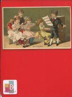 VILLEJUIF Au Petit ST CYR  Meinvielle Jolie Chromo Piano Chant Enfants Circa 1890 - Trade Cards