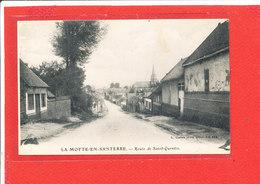 80 LAMOTTE En SANTERRE Cpa Route De Saint Quentin         Edit Caron - France