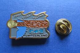 Pin's, ISELI, SWITZERLAND,machine, Tronconneuse, Säge - Trademarks