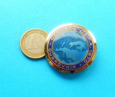 UEFA CONGRESS DUBROVNIK 1970. - MASSIVE Participant Enamel Football Soccer Pin Badge Fussball Futbol Calcio Foot Futebol - Football