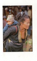 (thailand) An OLD Thai MEO - HiLL-Tribe -Women Carring HER Crand Child At North THAILAND - Thailand