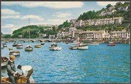 West Looe & Looe Bridge, Cornwall, 1966 - Photographic Greeting Card Co Postcard - England