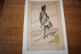 Imagerie  Populaire Tambour  De La Garde Illustrateur Huen - Documents