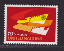 NATIONS UNIES NEW-YORK AERIENS N°   10 ** MNH Neuf Sans Charnière, TB (D4707) - Luftpost