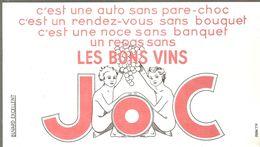 Buvard JOC Un Repas Sans Les Bons Vins JOC - Liquor & Beer