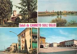 Cartolina Canneto Sull' Oglio Vedutine - Mantova