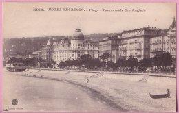 L74A_171 - Nice - Hôtel Negresco - Plage - Promenade Des Anglais - Cafés, Hotels, Restaurants