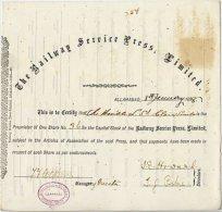 THE RAILWAY SERVICE PRESS LIMITED 1888 - Ferrovie & Tranvie