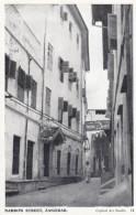 Zanzibar Narrow Street Scene, C1940s/50s Vintage Postcard - Tanzania