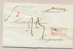 Österreich - 1838 - Folded Cover From Dornbirn, Via Bregenz & AUTRICHE Par HUNINGUE To Avignon / France - Österreich