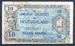 481-Allemagne Occup. Alliée Billet De 10 Mark 1944-73 8ch - [ 5] 1945-1949 : Allies Occupation