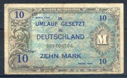 481-Allemagne Occup. Alliée Billet De 10 Mark 1944-00 9ch - 10 Mark