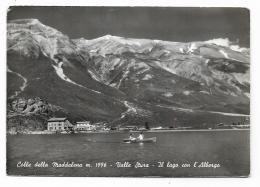 COLLE DELLA MADDALENA - VALLE STURA - IL LAGO CON L'ALBERGO - NV FG - Cuneo