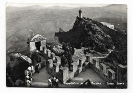 REPUBBLICA DI S.MARINO - TERZA TORRE   VIAGGIATA FG - San Marino