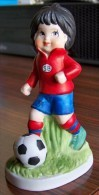 1 PERSONNAGE FOOTBALLEUR N° 4 FAIENCE NEUF SPORTS BILLY PRODUCTIONS 1981 TF1 TELEVISION - NOTRE SITE Serbon63 - Other