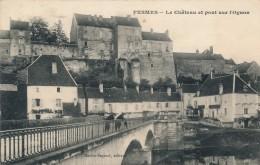 CPA 70 PESMES Le Château Et Pont Sur L'Ognon - Pesmes