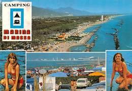 Cartolina Marina Di Massa Camping Pin Up  Vedutine - Massa