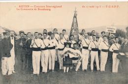 CPA 71 AUTUN Concours Interrégional De Gymnastique La Constantia De Strasbourg 17 Août 1913 FSGSPF - Autun