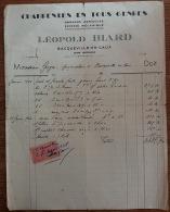 A Saisir Facture 1946 Charpentes En Tous Genres Hangars Scierie Leopold Biard Bacqueville En Caux Timbre Taxe 5 Francs - France
