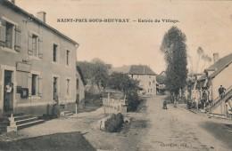 CPA 71 SAINT PRIX SOUS BEUVRAY Entrée Du Village Bureau Des Postes Au Premier Plan - France