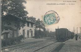 CPA 71 SIMANDRE LES ORMES La Gare - France