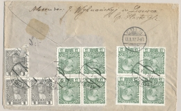 Österreich - 1912 - 11 Stamps On Backside Of Cover From Tluste (now In Poland) To Cöln / Deutschland - 1 Stamp Off - 1850-1918 Imperio
