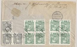 Österreich - 1912 - 11 Stamps On Backside Of Cover From Tluste (now In Poland) To Cöln / Deutschland - 1 Stamp Off - Briefe U. Dokumente