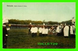 HAMILTON, BERMUDA - DEVINE SERVICE IN CAMP - ANIMATED -  PUB. BY J. H. BRADLEY & CO - - Bermuda