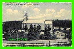 WARWICK, BERMUDA - CHURCH OF ST MARY THE VIRGIN -  PUB. BY J. H. BRADLEY & CO - - Bermudes