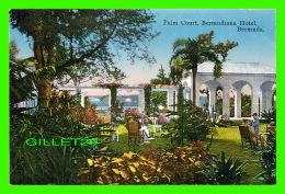 HAMILTON, BERMUDA - PALM COURT, BERMUDIANA HOTEL - ANIMATED -  WRITTEN - - Bermuda