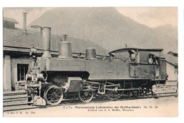 Locomotive 038, A Sch V W No 1299, Ea 2/ Personenzug Lokomitive Der Gotthardbahn No 31-33 - Maftei Munchen - Trains