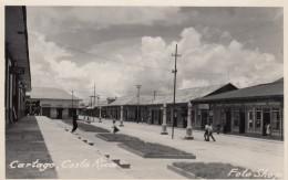 Cartago Costa Rica, Street Scene Business Signs, C1940s/50s Vintage Real Photo Postcard - Costa Rica