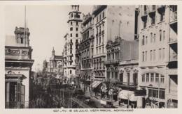 Montevideo Uruguay, Ave 18 De Julio, Animated Street Scene, Signs, C1920s/30s Vintage Real Photo Postcard - Uruguay