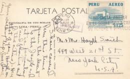 Tingo Maria Peru, Huallaga River Bridge, C1950s Vintage Real Photo Postcard - Peru