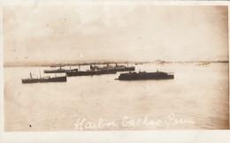 Callao Peru, Ships In Harbor, C1910s Vintage Real Photo Postcard - Peru
