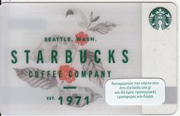 GREECE - Starbucks Coffee Company, Starbucks Card, CN : 6141, Unused - Gift Cards