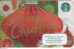 GREECE - Merry Christmas, Starbucks Card, CN : 6141, Unused - Gift Cards