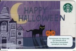 GREECE - Happy Halloween, Starbucks Card, CN : 6141, Unused - Gift Cards