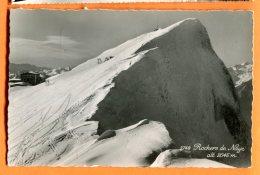 W220, Rochers De Naye, Ski-lift, Ski, Cabane, O. Sartori, Circulée 1952 - VD Vaud