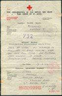 1944 Guernsey Censor Red Cross Message - Harold Lihou, Foulon Farm, St Peter Port - Guernsey